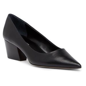 Donald J Pliner Black Anni Leather Pumps Size 9